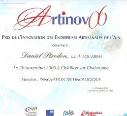aquarem laureate artinov 2006 catégorie innovation technologique