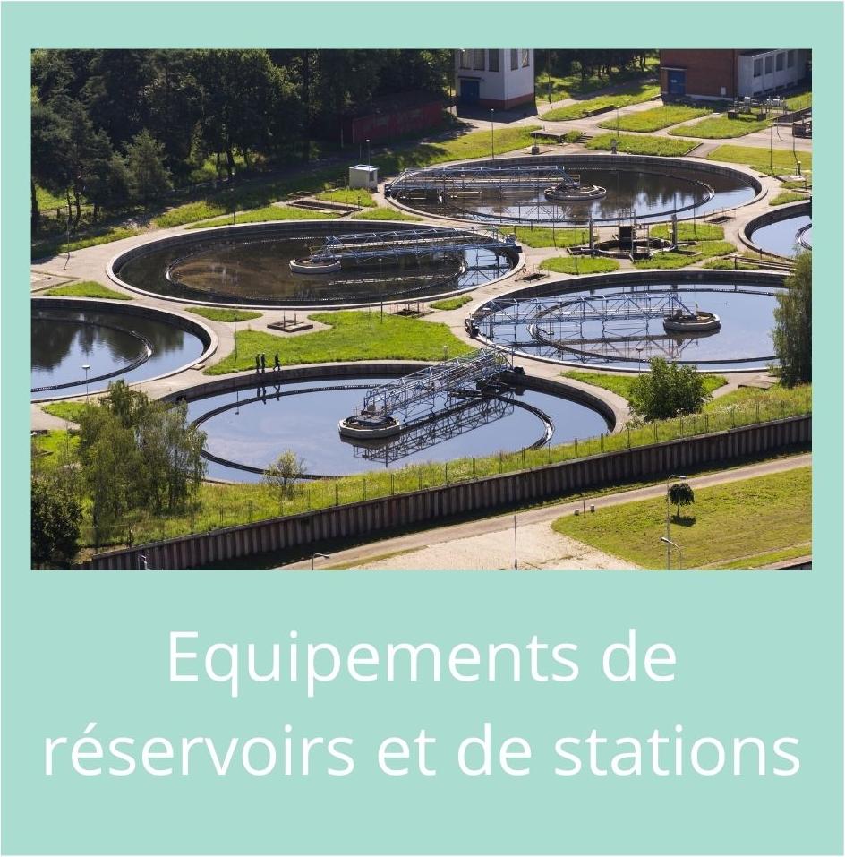 Nos produits équipements de réservoirs et de station aquarem environnement