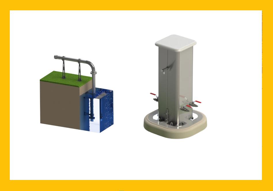 équipements pour puisage sur le réseau d'eau Aquarem-environnement
