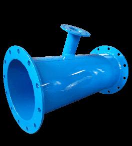 té en acier à tubulure tangentielle raccordement réseau d'eau aquarem-environnement