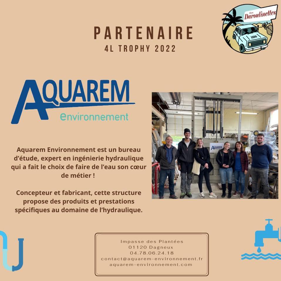 partenariat aquarem environnement 4L Trophy France Espagne et Maroc